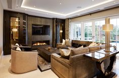 Stephen Clasper Interiors - Surrey, award-winning luxury interior designers and bespoke furniture makers for prestige homes in London, the Home Counties and worldwide. Living Room Inspiration, Home Decor Inspiration, Design Inspiration, Design Ideas, Condo Design, House Design, Luxury Interior, Home Interior Design, Interior Decorating
