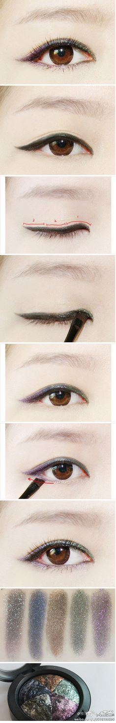 Could try asian makeup for girls who have smaller thinner  round creases or eyes to brighten them up!