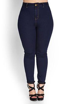 High-Waisted Curvy Skinny Jeans | Indigo