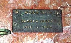 Pamela Susan Morrison - Longtime girlfriend and alleged wife of singer Jim Morrison (of the Doors) Bless her heart, she was a tormented soul. Jim Morrison, Pamela Courson, Los Doors, Los Angeles City College, Jim Pam, The Doors Of Perception, Famous Graves, Debbie Gibson, Janis Joplin
