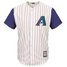 Arizona Diamondbacks Majestic Cooperstown Cool Base Team Jersey - Tan - $99.99