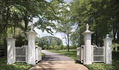 lovely white entrance gate