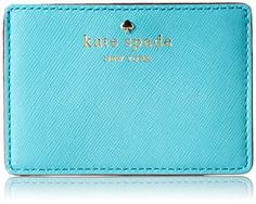 kate spade new york Cherry Lane Card Holder Card Case,Tropic Blue,One Size kate spade new york