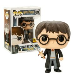 Amazon.com: Funko POP Exclusive Harry Potter with Sword of Gryffindor Toy Vinyl Action Figure #09: Toys & Games