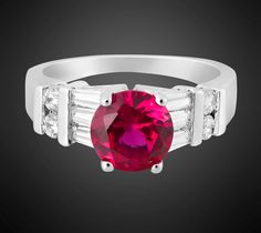 'RED RUBY 18K GP RING SIZE 6' is going up for auction at  9pm Thu, Aug 2 with a starting bid of $3.