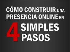 Marketing online en 4 simples pasos!