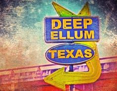 Dallas Texas Dallas Deep Ellum Sign image is Texas And Oklahoma, Dallas Texas, Dallas Shopping, Dallas Farmers Market, Graphic Design Typography, Artist At Work, Wall Murals, Photo Editing, Sign Image