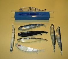 Soft plastic fishing lures with molds. Make your own bio plastic using just cornflour & vinegar. The possibilities are endless.