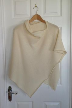 Soft Merino Lambswool Cream Poncho, £30.00