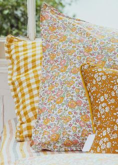 Pillowcase in Liberty Print 'Felicite' Liberty Print, Liberty Fabric, Home Bedroom, Bedroom Decor, 60s Bedroom, Bedroom Signs, Bedroom Rustic, Master Bedrooms, Bedroom Apartment