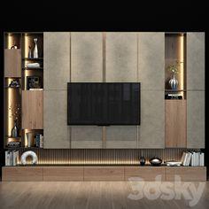 models: Other - TV shelf 088 Tv Shelf Design, Tv Cabinet Wall Design, Tv Unit Interior Design, Tv Wall Cabinets, Tv Wall Design, Modern Tv Room, Modern Tv Wall Units, Modern Tv Cabinet, Wall Unit Designs