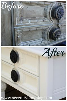 Serenity Now: Thrift Store Furniture Makeover (End Tables) using paint sprayer