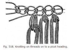 Vintage macrame knots
