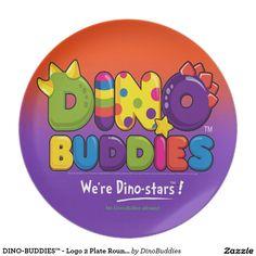 DINO-BUDDIES™ - Logo 2 Plate Round (Orange)