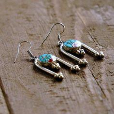 Laxmi Silver Tribal Earrings