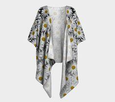 "Draped+Kimono+""White+Daisy+Draped+Kimono""+by+Julia+Donaldson"