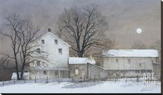 Full Moon Stretched Canvas Print by Ray Hendershot at Art.com