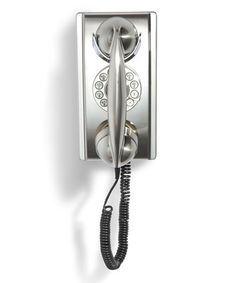 Look what I found on #zulily! Chrome Wall Phone #zulilyfinds