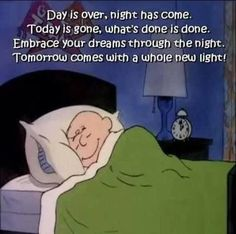 Good night affirmation. Good Night All...Family and Friends!: