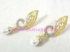 PEACOCK AMERICAN DIAMOND EARRINGS ADTP031317520011