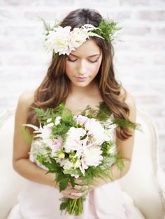 Wedding Bells: My Paper Crown + Bella Bridesmaids Interview Wedding Looks, Dream Wedding, Flower Headband Wedding, Wedding Bridesmaids, Wedding Dresses, Paper Crowns, Bohemian Bride, Elegant, Wedding Bells
