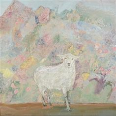 (via Ira Yeager - The White Sheep, Oil on canvas on MutualArt.com)