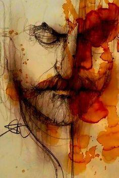 Savio Mizzi - Self portrait - Mixed media - 10x12 ins