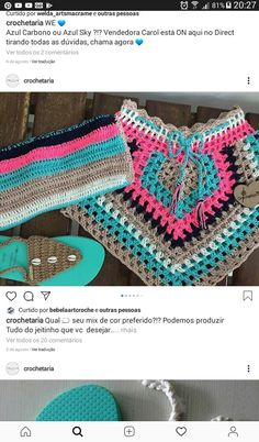 Crochet Baby Sweaters, Crochet Clothes, Crochet Bikini, Crochet Top, Look Boho Chic, Crochet Handbags, T Shirt Diy, Shots, Crochet Patterns