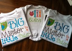 Big Mister Embroidered Shirt Big Brother Shirt ONLY