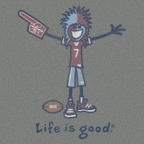Approach life with bold enthusiasm.  #Lifeisgood #Optimism #Football