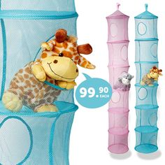 Great collapsible hanging storage bins - work well for soft toys