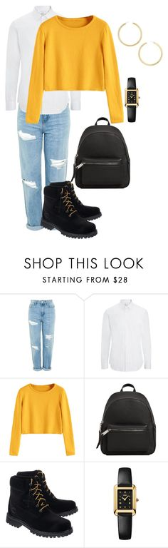 """""""Untitled #19"""" by cristiiina on Polyvore featuring Topshop, Joseph, MANGO, Off-White, Fendi and BaubleBar"""