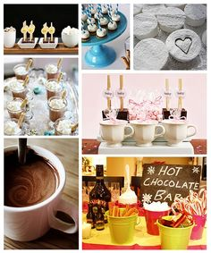 Hot Chocolate Bar...okay so i know its warm out but its stinkin cute
