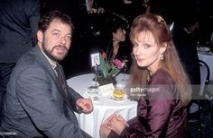 Actor Jonathan Frakes and actress Gates McFadden attend Education First!'s First Annual First Annual Vision Award Salute to Gene Roddenberry and 'The Star Trek' Series on February 10, 1992 at Hotel Nikko in Beverly Hills, California.