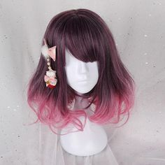 Note Headwear Is Not Included SKU Style Types Lolita Wig Material Heat Resistant Fiber Color Corsline Mixed Ombre Length 40 cm Lead Time Days Weight(kg) kg Pelo Lolita, Lolita Hair, Kawaii Hairstyles, Pretty Hairstyles, Wig Hairstyles, Cosplay Hair, Cosplay Wigs, Kawaii Wigs, Mode Kawaii
