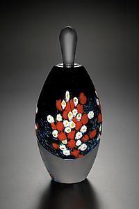Landscape Series Perfume Rose: Shawn Messenger: Art Glass Perfume Bottle | Artful Home