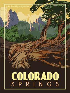 © 2021 Little Blue Dog Designs Poster Vintage, Vintage Travel Posters, National Park Posters, National Parks, Zoom Call, Grand Canyon National Park, Blue Dog, Rest Of The World, Colorado Springs