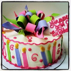 sweet birthday candle cake