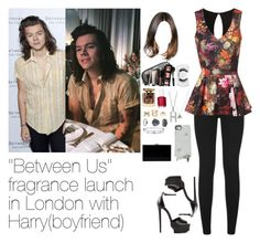 """""""""""Between Us"""" fragrance launch in London with Harry"""" by myllenna-malik ❤ liked on Polyvore featuring AG Adriano Goldschmied, Roberto Cavalli, Jane Norman, Topshop, Laura Mercier, Cartier, Marc by Marc Jacobs, Terry de Gunzburg, Charlotte Russe and MAC Cosmetics"""
