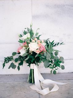Loose + romantic garden bouquet: http://www.stylemepretty.com/virginia-weddings/afton/2016/06/17/every-engagement-session-needs-this-flower-crown/ | Photography: Nikki Santerre Photography - http://nikkisanterre.com/