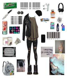 """""""Indigo is finally joining the Rebels of this Century (story)"""" by bad0kitty ❤ liked on Polyvore featuring Victoria's Secret, Børn, Manic Panic NYC, H&M, prAna, BP., Sharpie and Dr. Martens"""