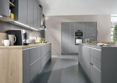 Laser grey from Nobilia Kitchens