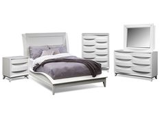 Atwater White Bedroom Collection | Furniture.com