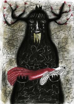 'Condolence' (2013) by Japanese artist & illustrator Tetsuhiro Wakabayashi. via the artist's site.