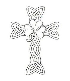 celtic cross :) maybe minus the shamrock,,,,that's a little much.
