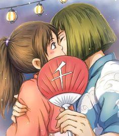 Spirited Away Fan Anime W, Girls Anime, Otaku Anime, Kawaii Anime, Fan Anime, Studio Ghibli Art, Studio Ghibli Movies, Wallpaper Studio, Spirited Away Haku