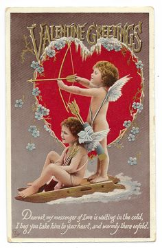 RESERVED FOR HERRMANN  Cupids Real Photo by GatherAntiques on Etsy