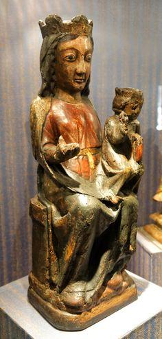 Statue en bois polychrome dite Notre-Dame de Serrabona datant du XIIIème ...