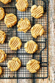 Flourless Peanut Butter Cookies - An easy 3-ingredient recipe. Rich peanut butter flavor and naturally gluten-free!