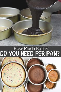Learn exactly how much cake batter you need per pan, using my easy guide! It shares how many cups of batter you need for different sized cake layers cake decorating recipes kuchen kindergeburtstag cakes ideas Cakes To Make, How To Make Cake, Cake Sizes And Servings, Cake Servings, Baking Tips, Baking Recipes, Cake Recipes, Baking Secrets, Baking Hacks